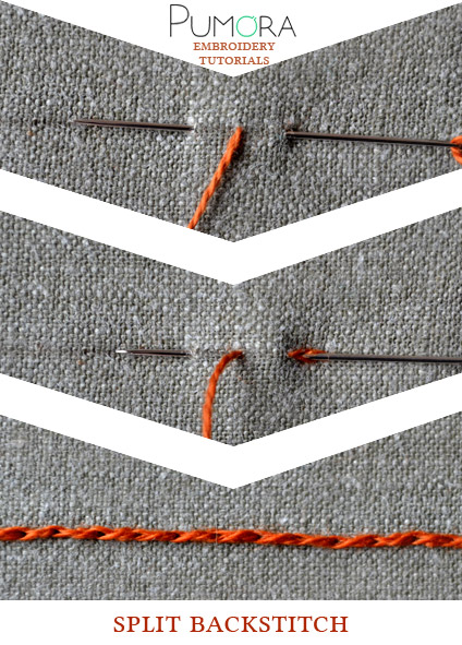 split back stitch tutorial