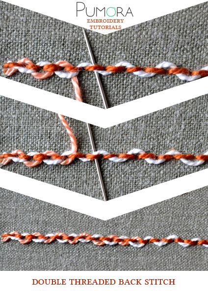 threaded back stitch tutorial