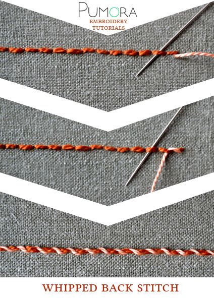 whipped back stitch tutorial
