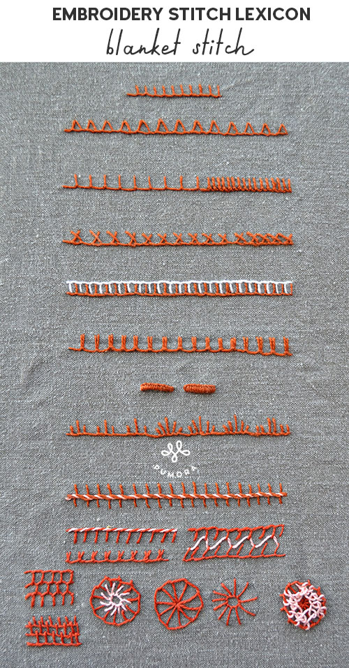 blanket stitch embroidery stitch lexicon