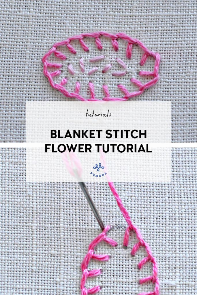 blanket stitch flower embroidery tutorial