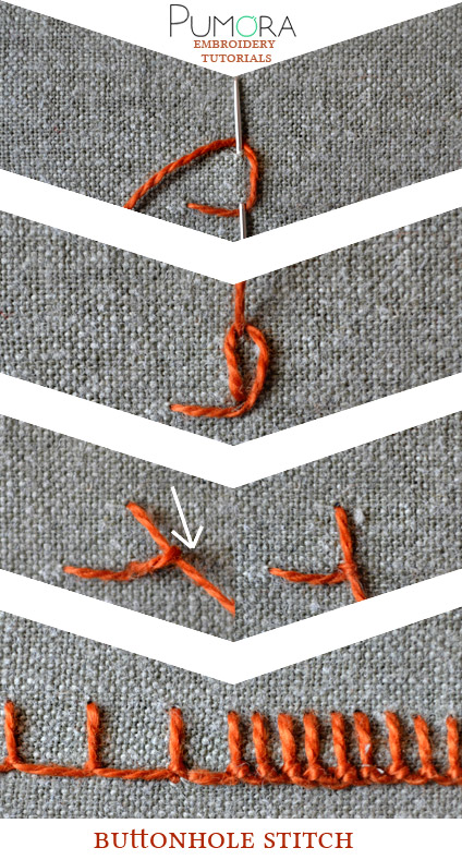 buttonhole stitch tutorial