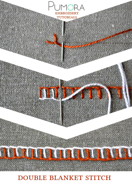 double blanket stitch tutorial