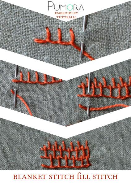 blanket stitch fill stitch tutorial
