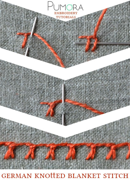 german knotted blanket stitch tutorial