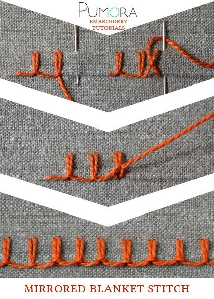 mirrored blanket stitch tutorial