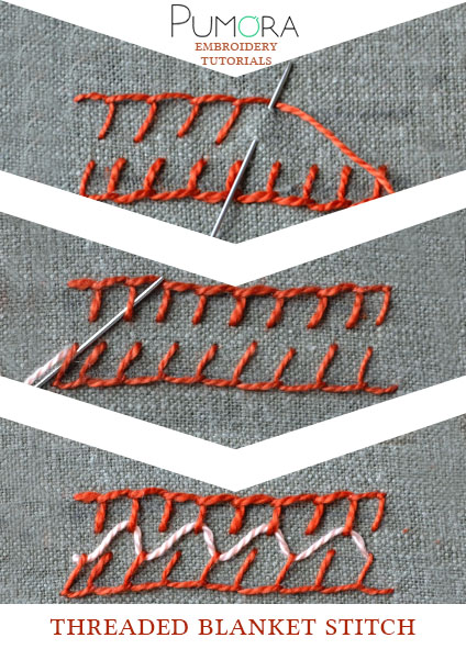 threaded blanket stitch tutorial