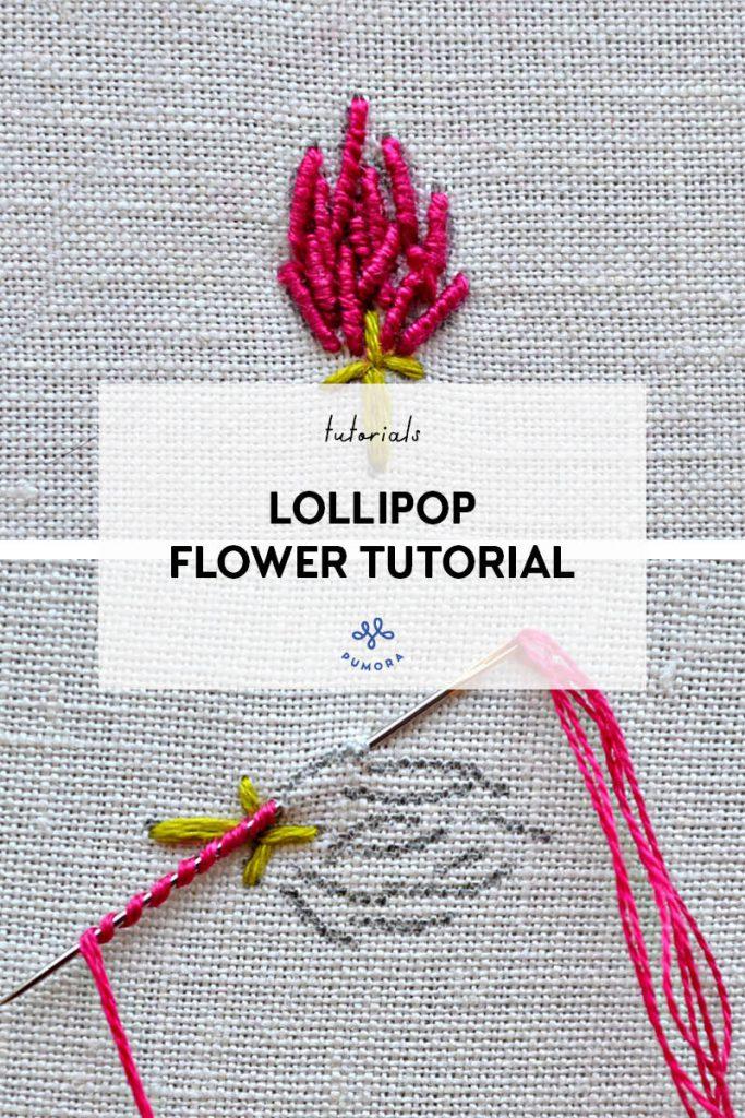 bullion stitch clover embroidery tutorial