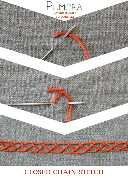 closed chain stitch tutorial