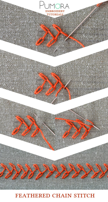 feather chain stitch tutorial