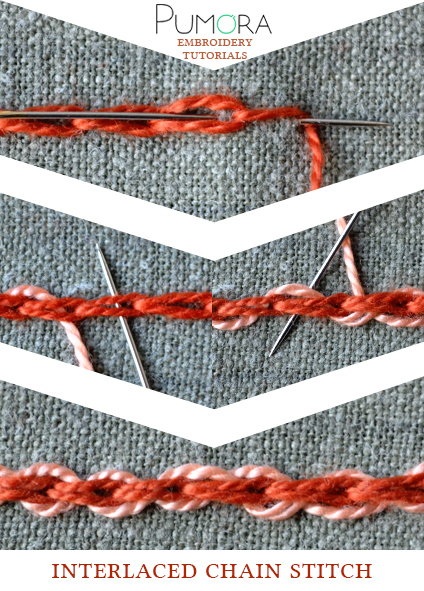 interlaced chain stitch tutorial