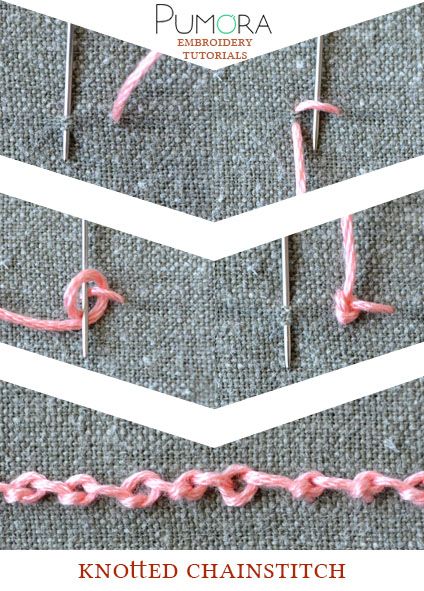 knotted chain stitch tutorial