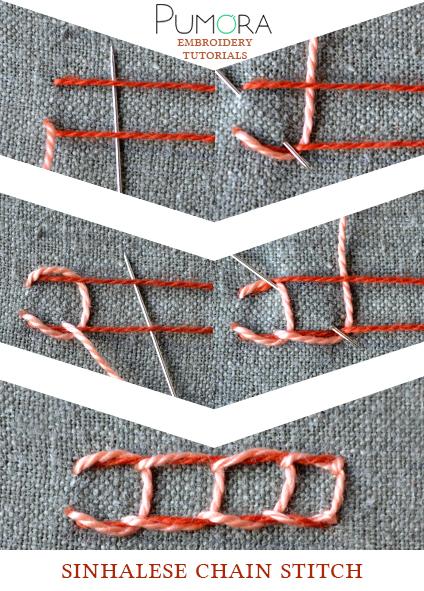 sinhalese chain stitch tutorial