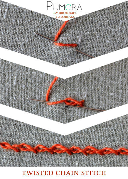 twisted chain stitch tutorial
