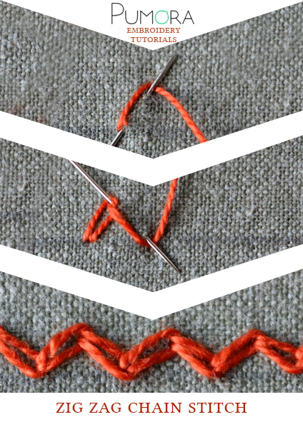 zig zag chain stitch