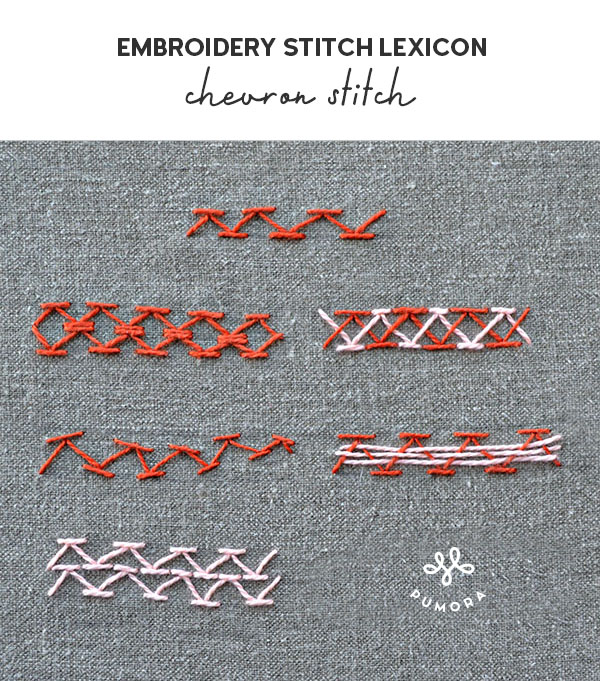 chevron stitch embroidery stitch lexicon