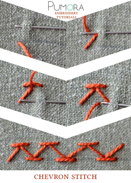 chevron stitch tutorial