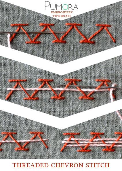 threaded chevron stitch tutorial