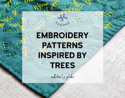 Embroidery patterns inspired by trees