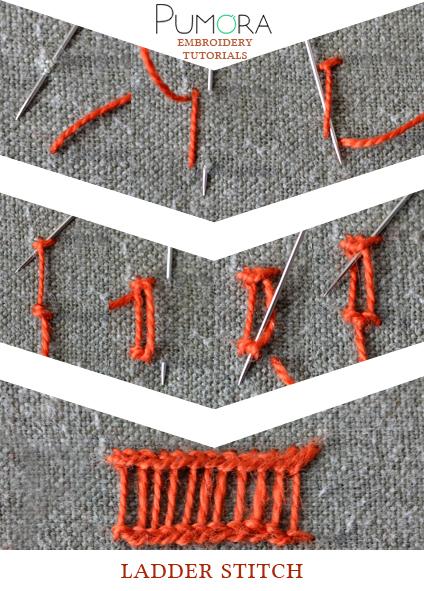 ladder stitch tutorial
