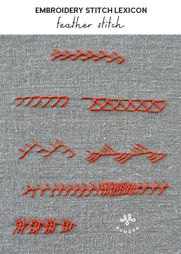 feather stitch embroidery stitch lexicon