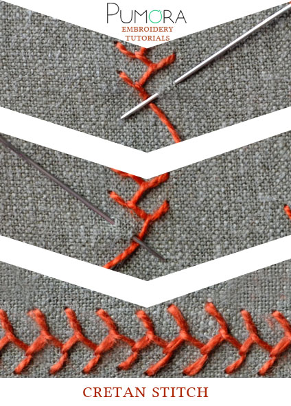 cretan stitch tutorial