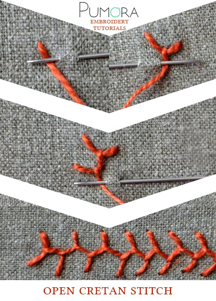 open cretan stitch tutorial