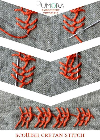 scottish cretan stitch tutorial