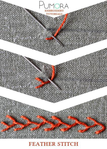 feather stitch tutorial