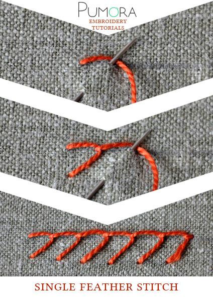 single feather stitch tutorial