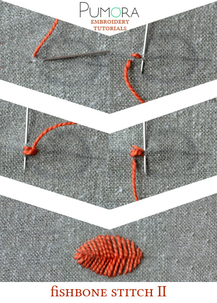 fishbone stitch tutorial