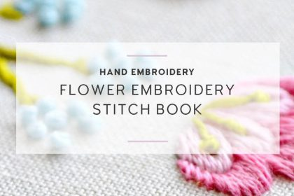 flower embroidery stitch book new sq