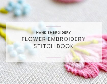 Flower embroidery ebook