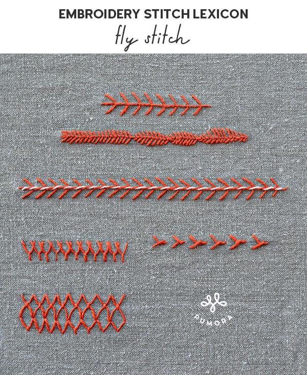 fly stitch embroidery stitch lexicon