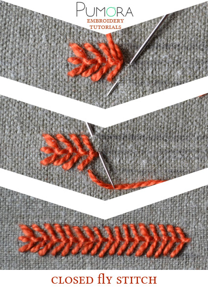 closed fly stitch tutorial