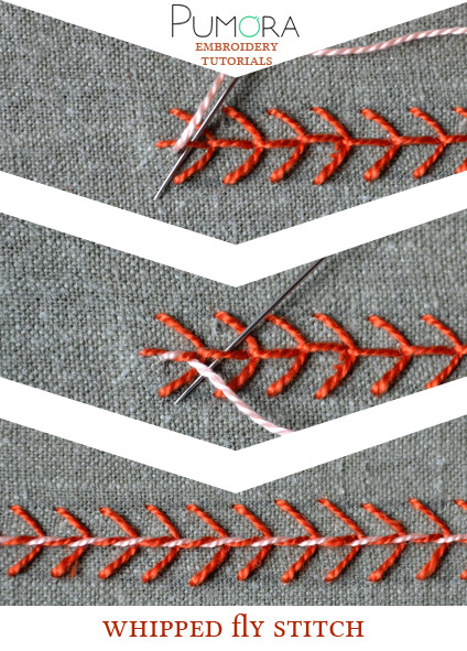whipped fly stitch tutorial