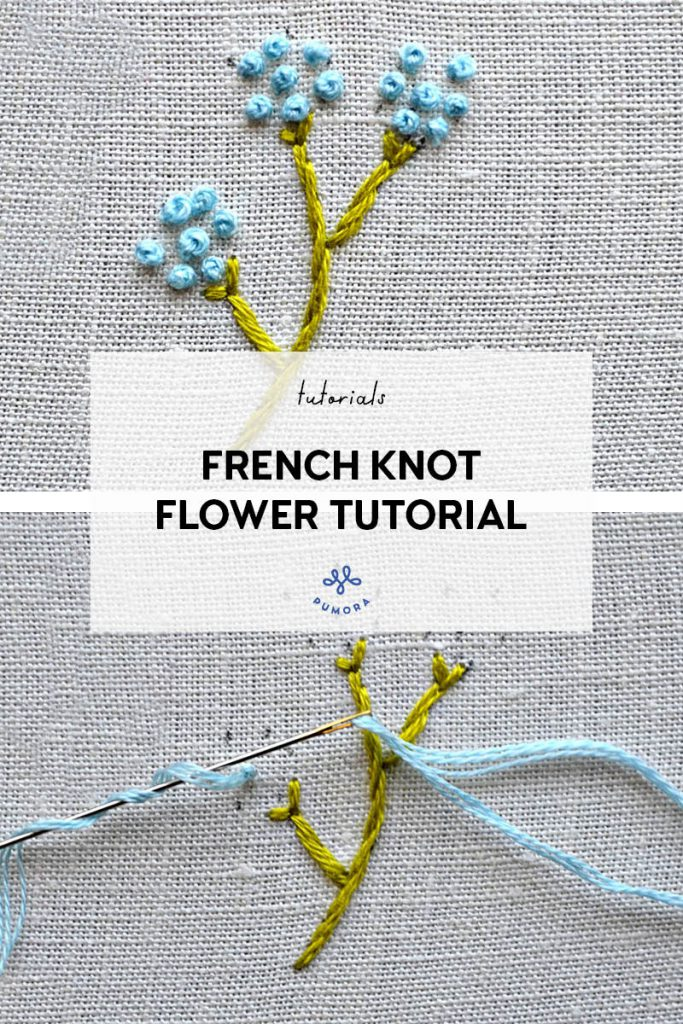 french knot flower embroidery tutorial