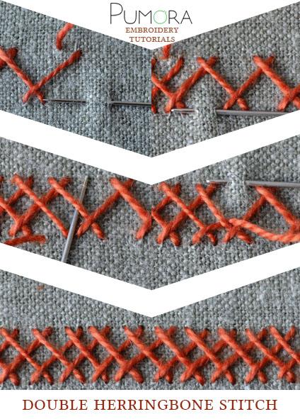 double herringbone stitch tutorial