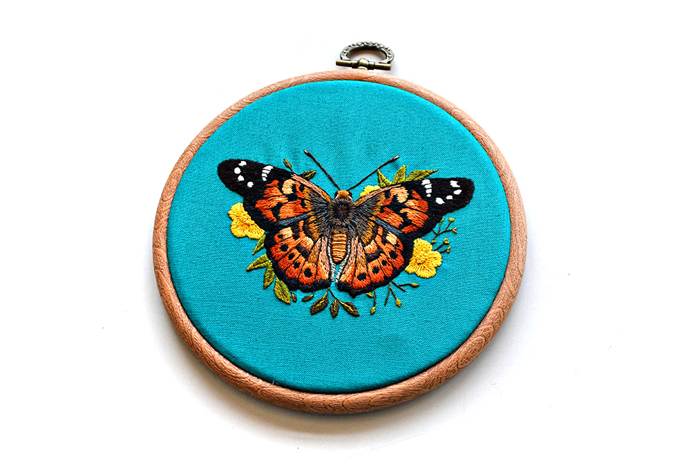 Finished project: butterfly embroidery by Emillie Ferris
