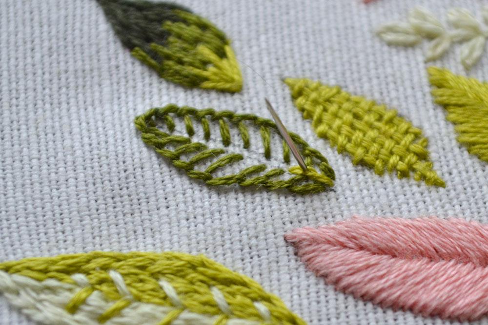 9 methods of leaf embroidery - Pumora