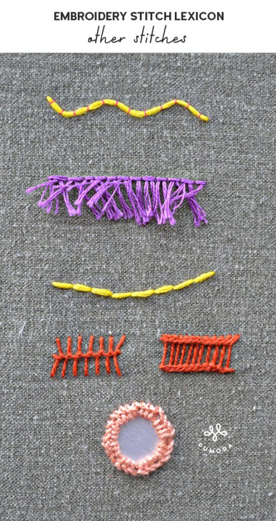 other stitches embroidery stitch lexicon