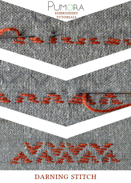 darning stitch tutorial