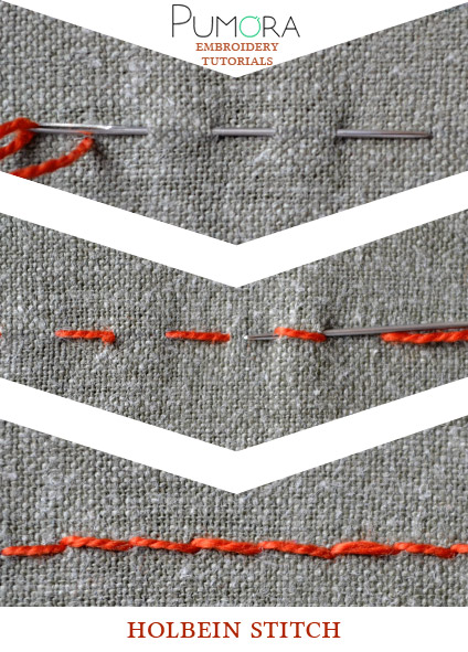 holbein stitch tutorial