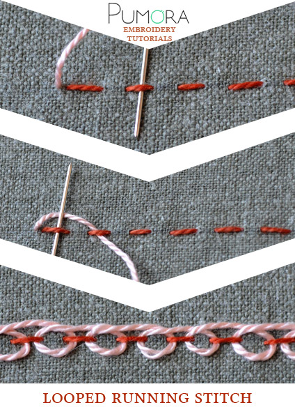 looped running stitch tutorial