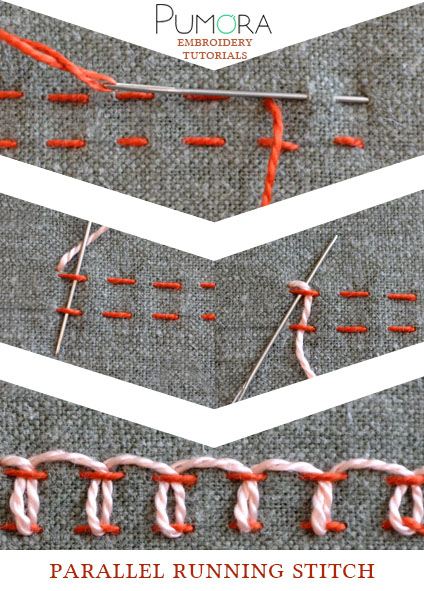 parallel running stitch tutorial