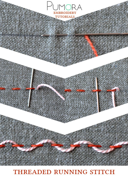 threaded running stitch tutorial