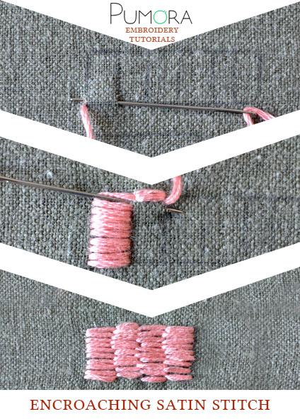 encroaching satin stitch tutorial
