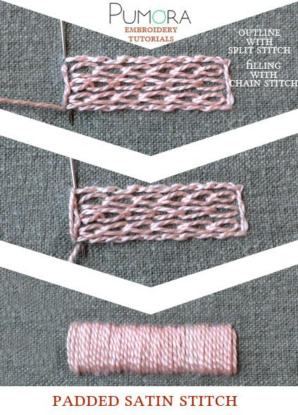 padded satin stitch tutorial