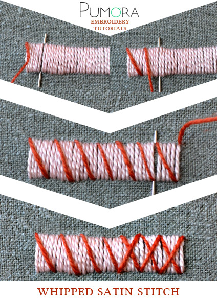 whipped satin stitch tutorial