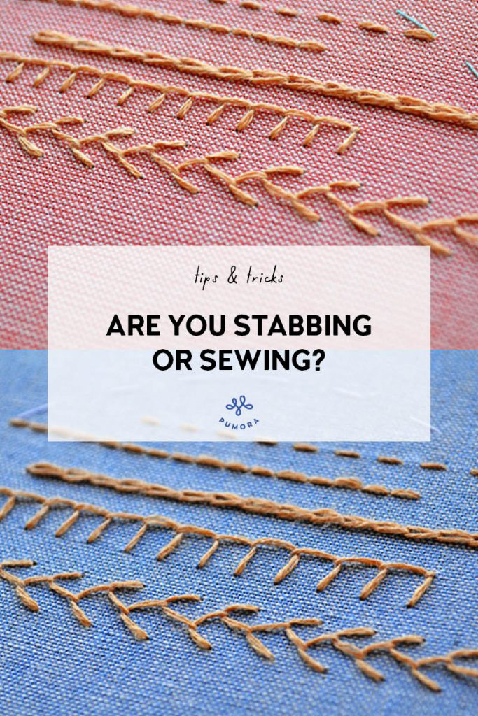 Stabbing vs Sewing in Embroidery